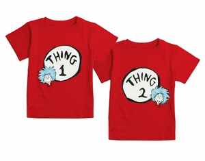 8d9c3edd Thing 1 & Thing 2. Twin Tee Shirt Set