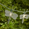 Ten Silver Mesh Dragonfly Party String Lights