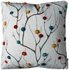"Abstract Tree 20"" Square Throw Pillow"