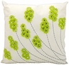 "20"" Apple Green on White Throw Pillow"