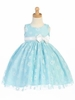 Flocked Tulle Dress - Blue