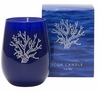 Silver Coral Icon Candle