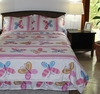 Girl's Whimsical Butterflies Bed Set