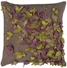 "Butterfly Frenzy Gray 18"" Throw PIllow"