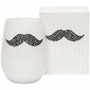 Mustache Icon Candle