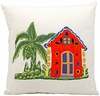 "Tropical Home 18""  Throw Pillow"