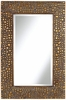 Textured Relief  Bronze Wall Mirror