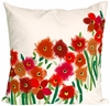 "Poppies Red 20"" Throw Pillow"