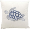 "Blue Sea Turtle 18"" Throw Pillow"