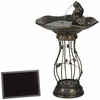 Solar 3-Frog Bird Bath Fountain