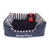 French Nautica Puppy Bed - Navy