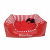 French Nautica Puppy Bed - Red