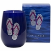 Silver Flip Flops Icon Candle