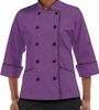 Women's 3/4 Sleeve Tailored Fit Chef Coat