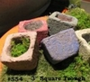 "3"" Square Troughs Assorted Colors"