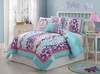 Girl's Ashley Leopard  Multi Color Bed Set