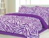 Girl's Purple Zebra Bed Set