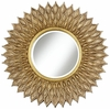 Sunflower Antique Gold Wall Mirror