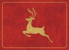 Reindeer on Red Hardboard Placemats