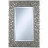 Textured Relief Silver Wall Mirror