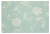 Woven Placemat - Birds & Flowers, Aqua