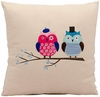 "Double Owl 18"" Throw Pillow"