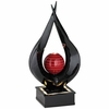 Black/Red Lacquer  LED Light Table Fountain