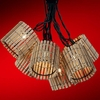 Light Bamboo Lantern Party Light Set
