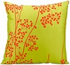 "Lime Green & Orange 20"" Throw Pillow"