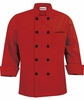 Men's Red Tailored Fit Chef Coat