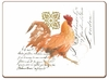 Watercolor Roosters Hardcorked Placemats