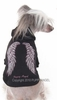 Puppy Angel Wings Hoodie - Black