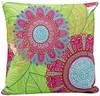 "Pink 18"" Square Throw Pillow"