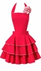 Petite Dot Party Red Apron