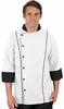 Men's Traditional Fit 3/4 Sleeve Chef Coat