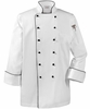 White w/Black Classic Executive Chef Coat