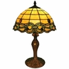 Vanilla Green Blue Baroque Tiffany Lamp