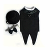 Classic Dog Tuxedo Set with Tails