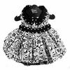 Floral Dog Dress - Black and White