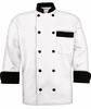 Men's White Tailored Fit Chef Coat