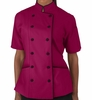 Tailored Chef Coat - Wild Berry w/Black