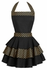 Black Tie Gold Metallic Apron