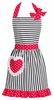 Dorothy Red Ruffled Apron