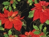 Poinsettias on Black Hardboard Placemats