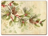 Holly Branch Cork-back Placemats