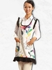 Colorful Big Flower Waitress Apron