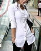 Women's Cotton Stand Up Collar Blouse