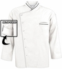 Men's White Roll Up Sleeves Chef Coat