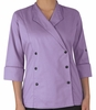 Women's Lapel Collar Chef Coat
