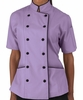 Tailored Chef Coat - Wisteria w/Black